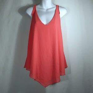 Kanvas Asymetrical Sleeveless Peach Tank Top MED